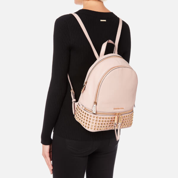 MICHAEL MICHAEL KORS Women s Rhea Zip Medium Stud Backpack - Soft Pink   Image 3 2e4391a854b