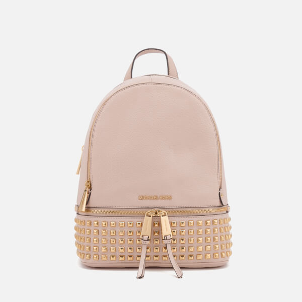 00ef231ad5 MICHAEL MICHAEL KORS Women s Rhea Zip Medium Stud Backpack - Soft Pink   Image 1