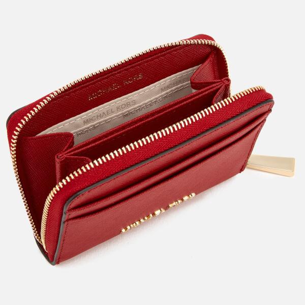 eea4c2ba8521 MICHAEL MICHAEL KORS Women s Money Pieces Zip Around Card Case - Bright  Red  Image 3