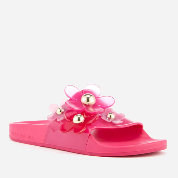 Marc Jacobs Women's Daisy Aqua Slide Sandals - Fuchsia - UK 5 3hcWq