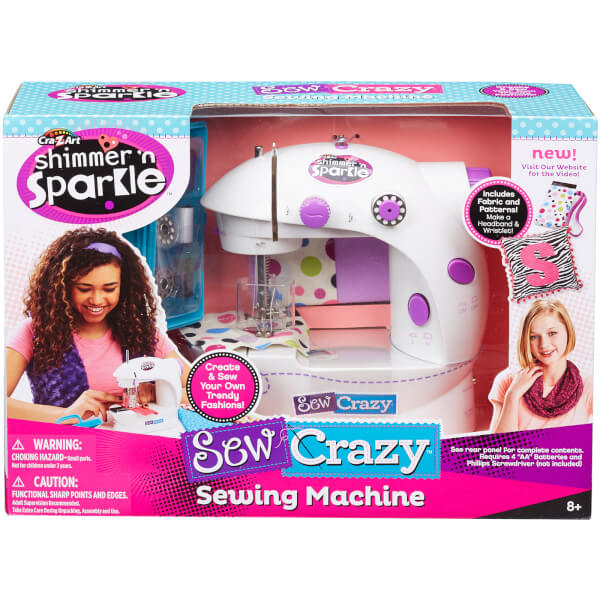 Shimmer and Sparkle Sew Crazy Sewing Machine