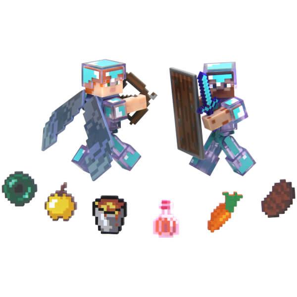 Minecraft Steve Hardcore Survival Figures Pack