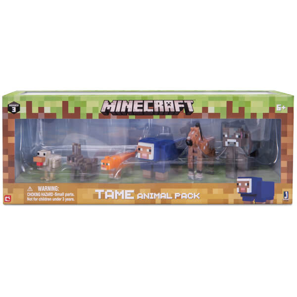 Minecraft Tame Animal Figures Pack
