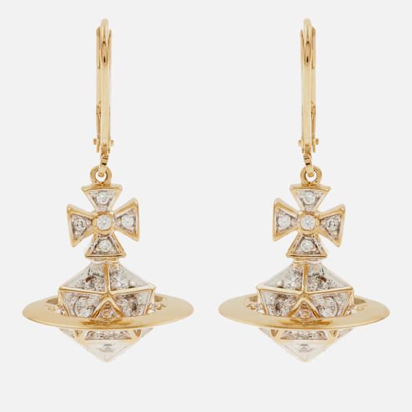 Vivienne Westwood Women's Bessie Orb Drop Earrings - White Cubic Zirkonia