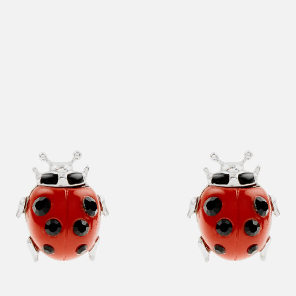 Vivienne Westwood Women's Ladybird Earrings - Red Resin/Black