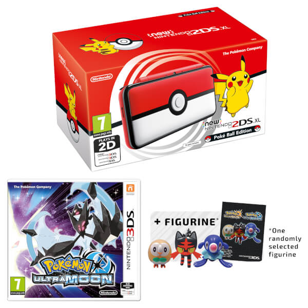 New Nintendo 2DS XL Poké Ball Edition + Pokémon Ultra Moon Pack
