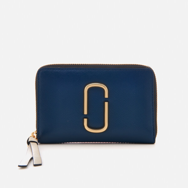 Marc Jacobs Women's Small Standard Zip Around Purse - Blue Sea/Multi