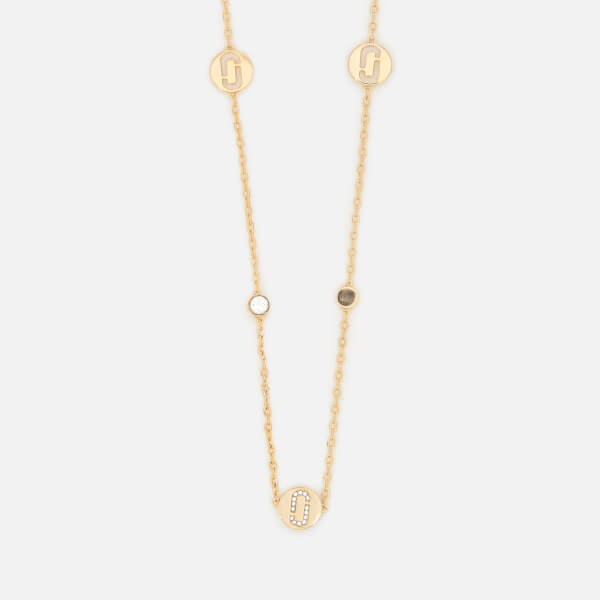 Marc Jacobs Women's Double J Pave Long Necklace - Gold