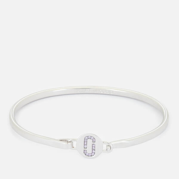 Marc Jacobs Women's Double J Pave Hinge Cuff Bracelet - Silver
