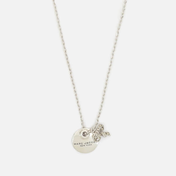Marc Jacobs Women's MJ Coin Bow Pendant Necklace - Silver