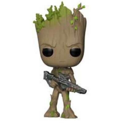 Figurine Pop Groot Ado Avec Pistolet Marvel Avengers