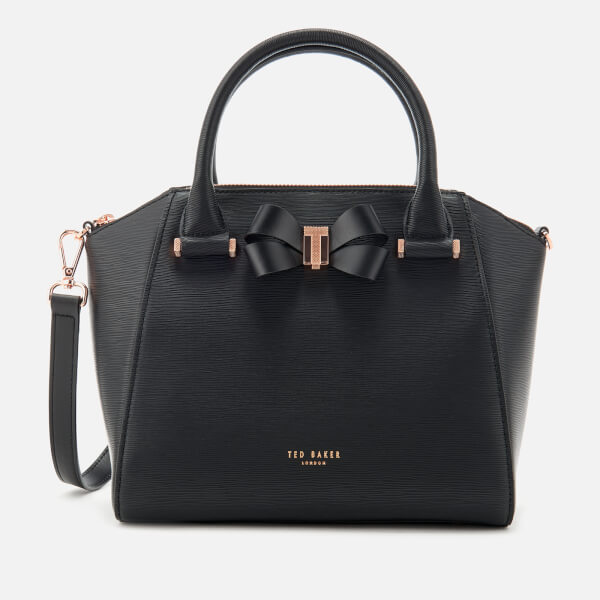 e0f3b4dc2ef38c Ted Baker Women s Charmea Bow Detail Small Tote Bag - Black  Image 1