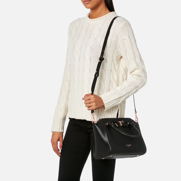 b84474a92 Ted Baker Women s Charmea Bow Detail Small Tote Bag - Black  Image 3
