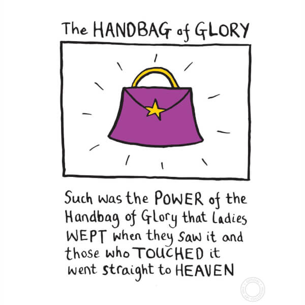 Edward Monkton 'Handbag Of Glory' Limited Edition Art Print