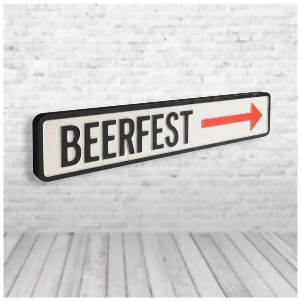 Shh Interiors 'Beer Fest' Vintage Street Sign