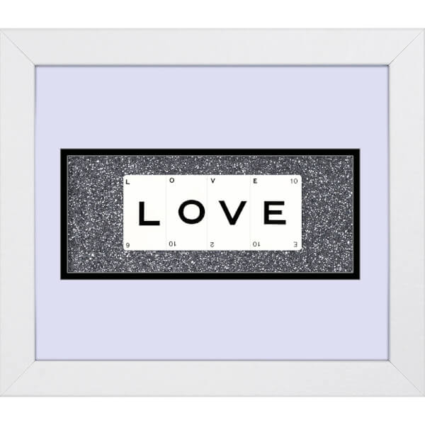 Playing Card Co 'Love' Framed Vintage Style Playing Cards - 30x 25cm