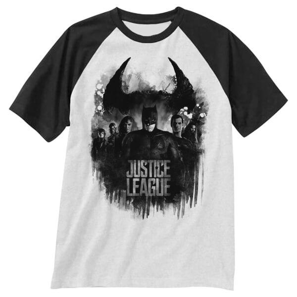 DC Comics Men's Justice Group Logo T-Shirt - White