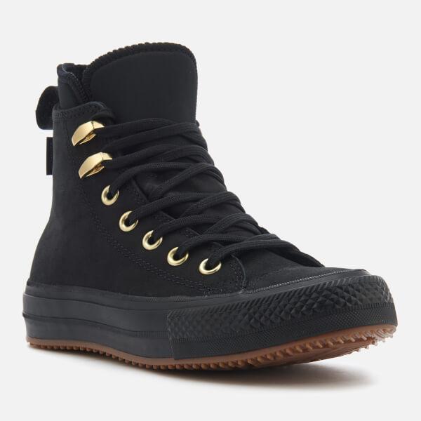 b7993a0b9723 Converse Women s Chuck Taylor All Star Waterproof Boots - Black Black Brass   Image