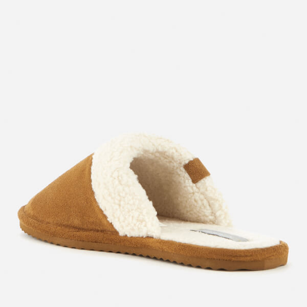Superdry Womenu0026#39;s Premium Mule Suede Slippers - Tan   FREE UK Delivery   Allsole