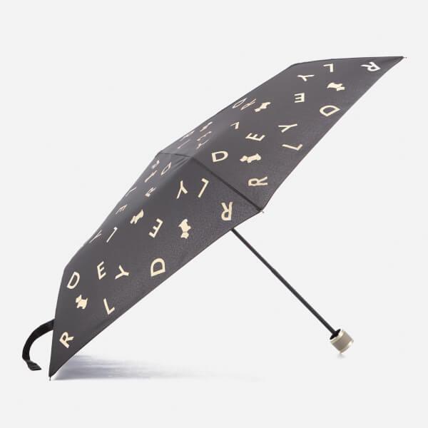 Radley Women's All That Glitters Mini Telescopic Umbrella - Black