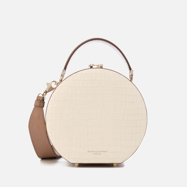 Aspinal of London Women's Hat Box Mini Bag - Ivory/Camel
