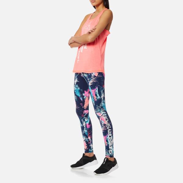 8256ac24dff68 Superdry Sport Women s Essentials Highwaist Leggings - Fluro Tropic  Image 3
