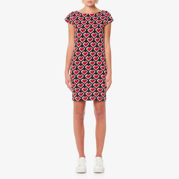 carnation print mini dress - Black Moschino IYo0yR