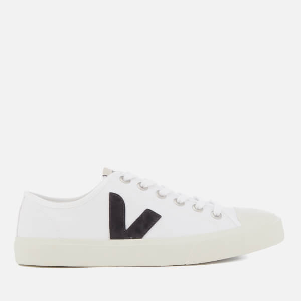 Veja Men's Wata Canvas Trainers - White/Black