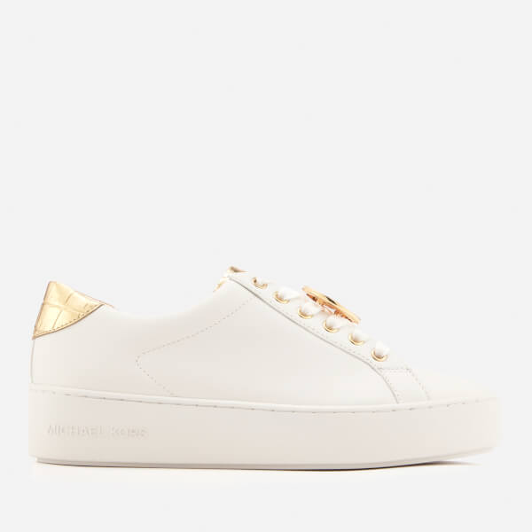 MICHAEL MICHAEL KORS Women's Poppy Lace Up Trainers - Optic White: Image 1