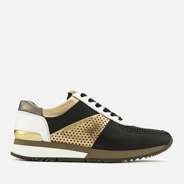 MICHAEL huQq6J6DTO ALLIE TRAINER - Trainers - black/pale gold RMupVO