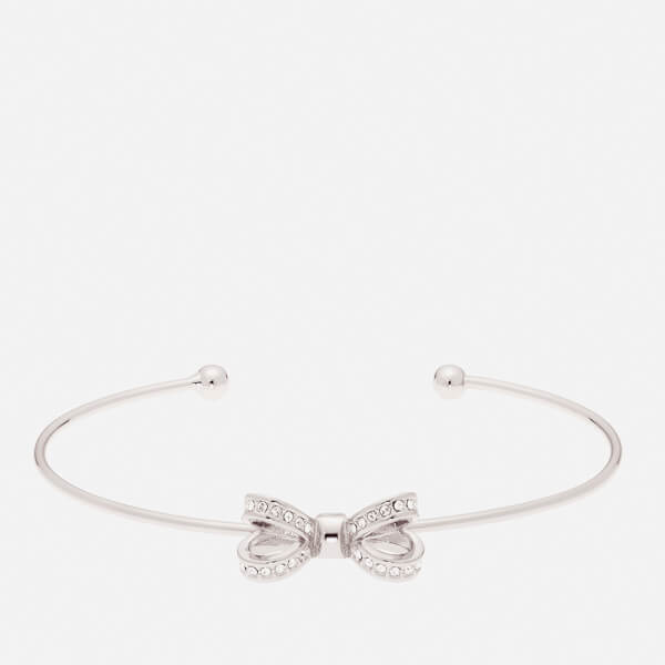 Ted Baker Women's Olexii: Mini Opulent Pavé Bow Ultra Fine Cuff - Silver/Crystal