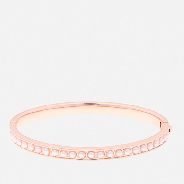Ted Baker Women's Clemara Hinge Pearl Bangle - Rose Gold/Pearl