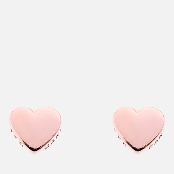 Ted Baker Women's Harly Tiny Heart Stud Earrings - Rose Gold