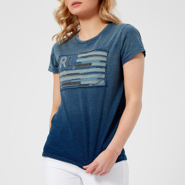 Polo Ralph Lauren Women s Flag Denim T-Shirt - Blue - Free UK ... facef606c