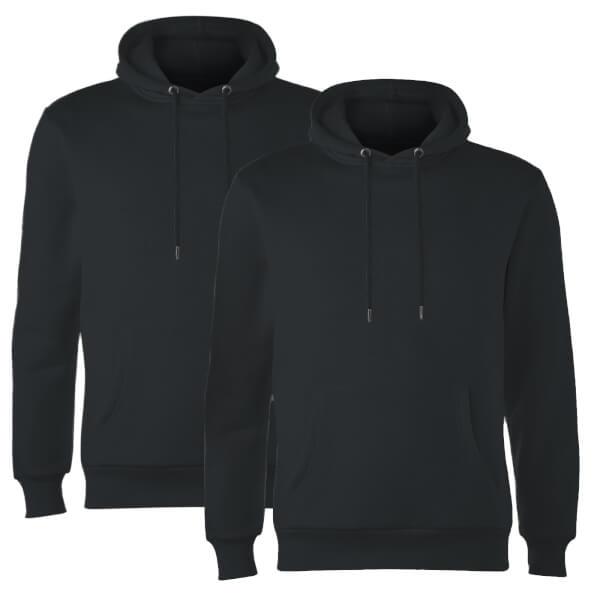 Native Shore Men's Essential 2 Pack Hoody - Black
