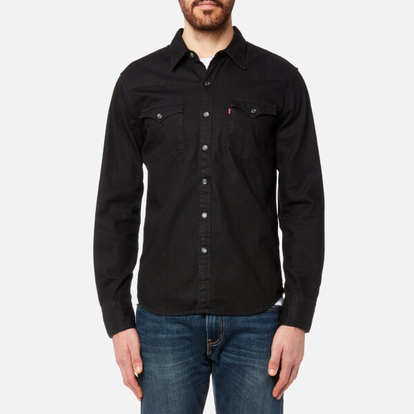 Levi s Men s Barstow Western Shirt - Black Mens Clothing  4a3efc66abae