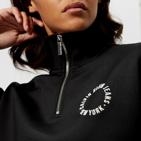 Calvin Klein Women's Harika Cropped Zip Top - Black: Image 4