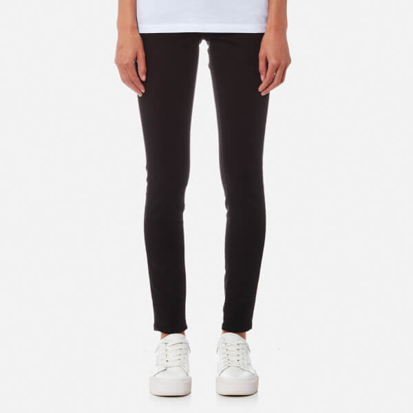 6feec33bf61 Calvin Klein Women s Mid Rise Skinny Jeans - Pop Black Clothing ...