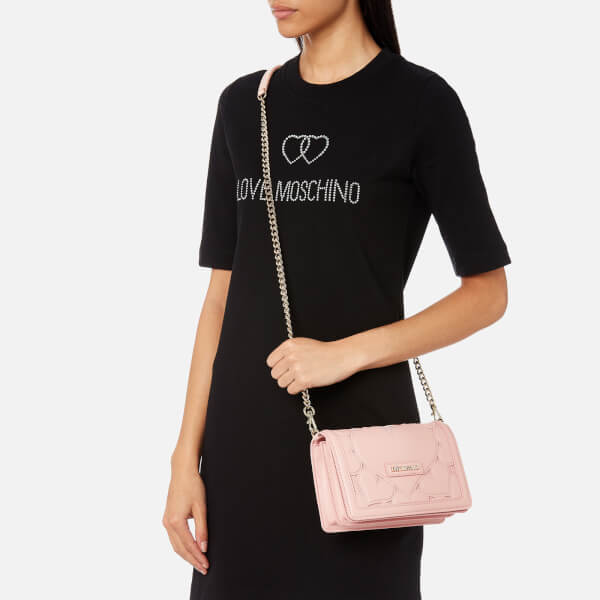 32111c67d105 Love Moschino Women s Small Heart Embossed Cross Body Bag - Pink  Image 3