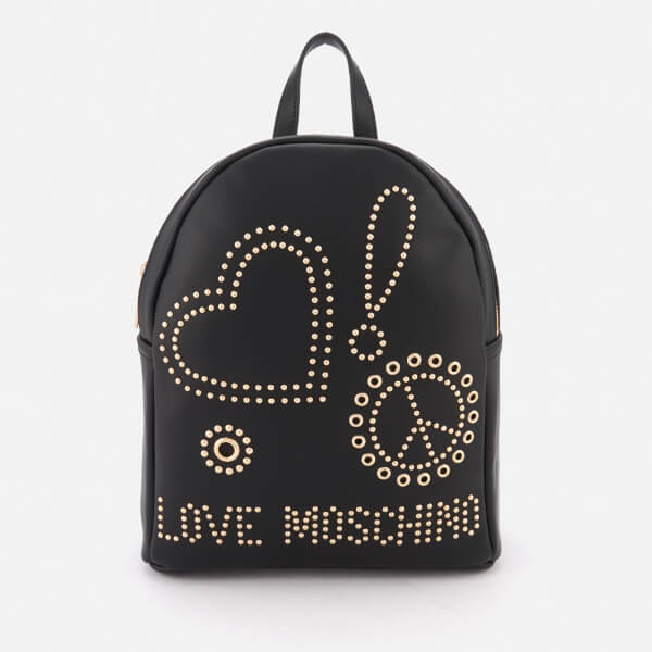c504aa6cb22e Love Moschino Women s Studded Logo Backpack - Black  Image 1