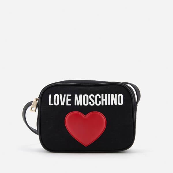 Love Moschino Women's Heart Logo Cross Body Bag - Black