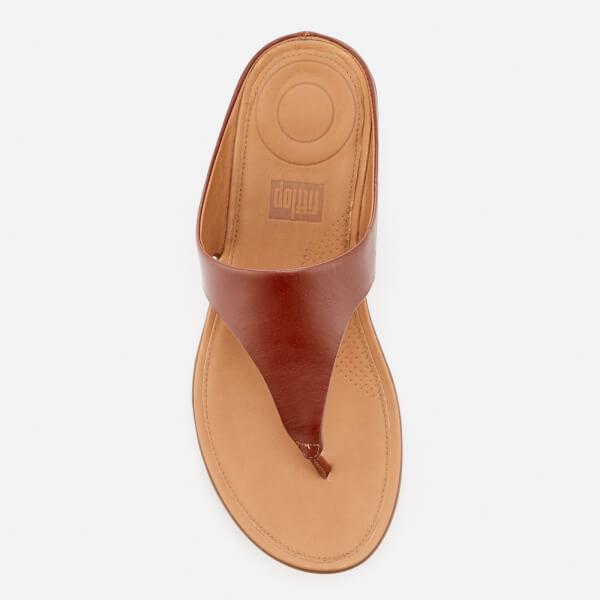 77ac65f4e165ab FitFlop Women s Banda II Leather Toe Post Sandals - Cognac  Image 3