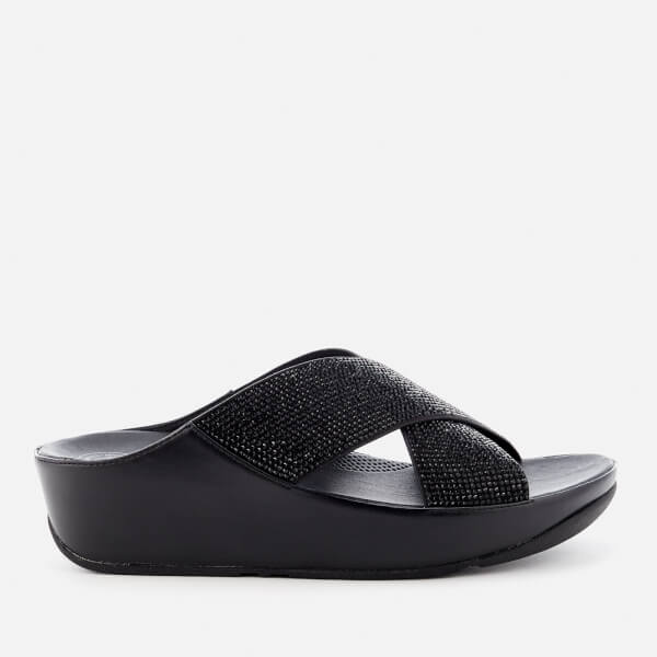 FitFlop Women's Crystall Slide Sandals - Black
