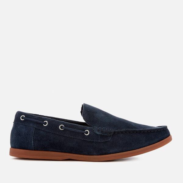 Clarks Men's Morven Sun Suede Slip-On Boat Shoes - Navy