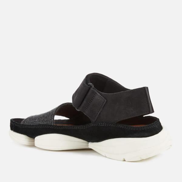 Clarks Originals Women s Trigenic Evo S Nubuck Sandals - Black  Image 2 3730a00c08