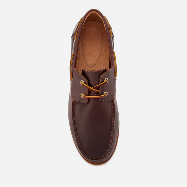 90b4be167b8 Clarks Men s Morven Sail Leather Boat Shoes - British Tan  Image 3