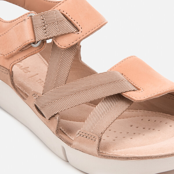 b4f9469a6b68 Clarks Women s Tri Clover Strappy Sport Sandals - Pink Combi  Image 4
