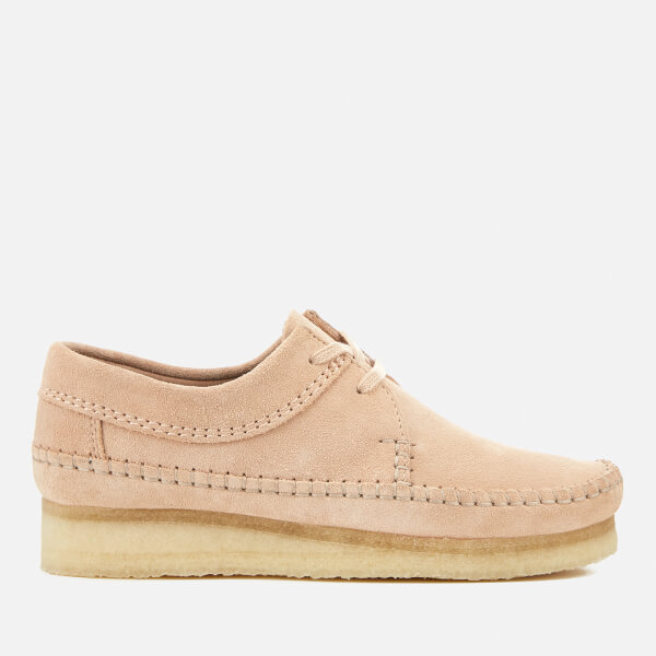 Clarks Originals Women's Weaver Suede Shoes - Light Pink