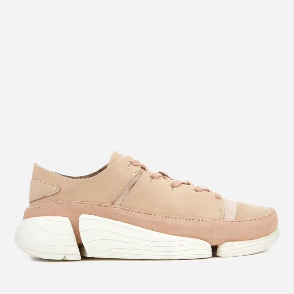 Clarks Originals Women's Trigenic Evo Nubuck Trainers - Light Pink