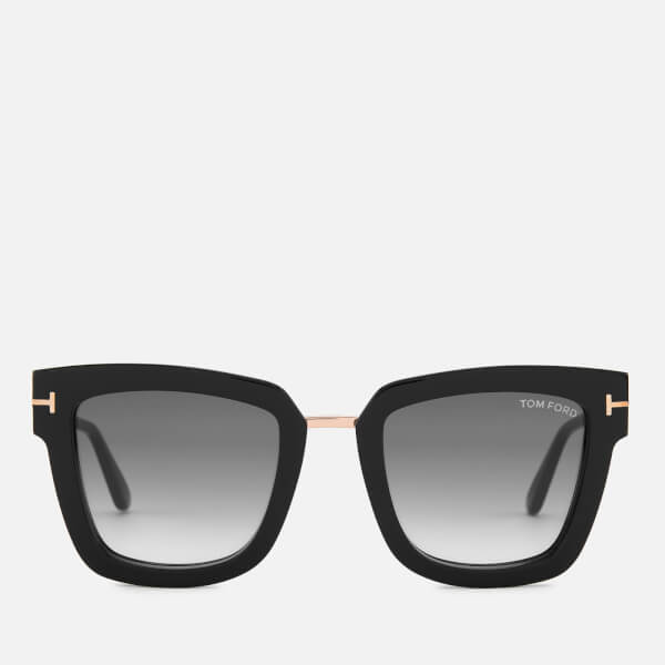 Tom Ford Women's Lara Square Frame Sunglasses - Black/Gradient Smoke